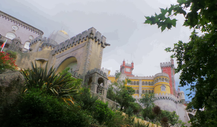 portugal Sintra palace angled